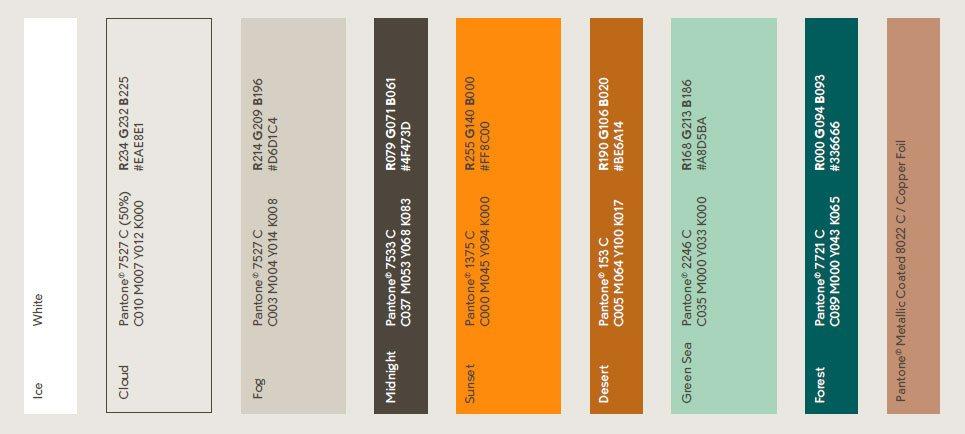 John Horsfall brand colour palette