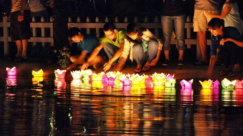 Vietnam lantern festival around Chinese New Year